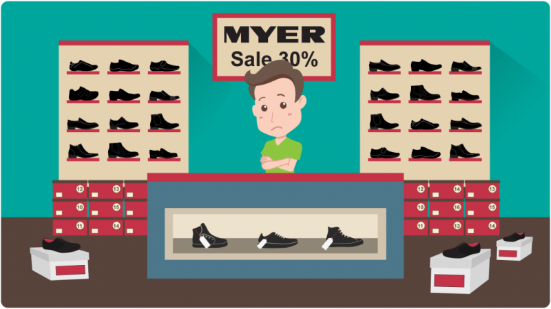 What I learned selling shoes at Myer
